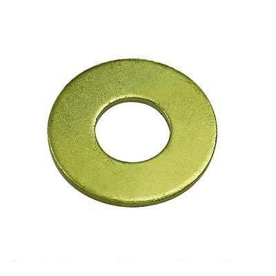 SAE Flat Washer, Grade 8, Yellow Zinc Plated