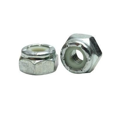 Nylon Insert Lock Nut, Coarse Thread, Standard Grade, Zinc Plated