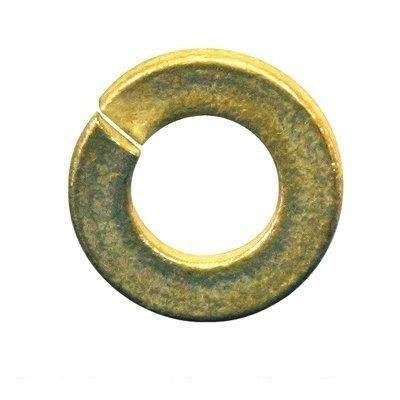Lock Washer, Grade 8, Yellow Zinc Alloy