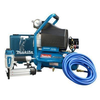2 H.P. Air Compressor And Brad Nailer Kit (Makita MAC700KIT3)