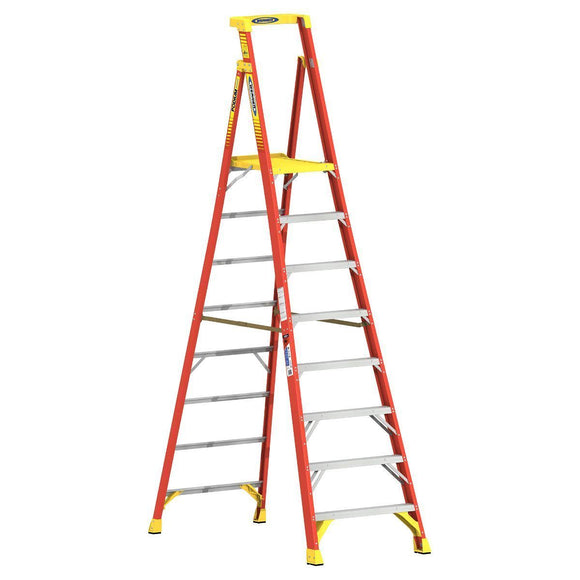 8-14 ft Type IA Fiberglass Podium Ladder