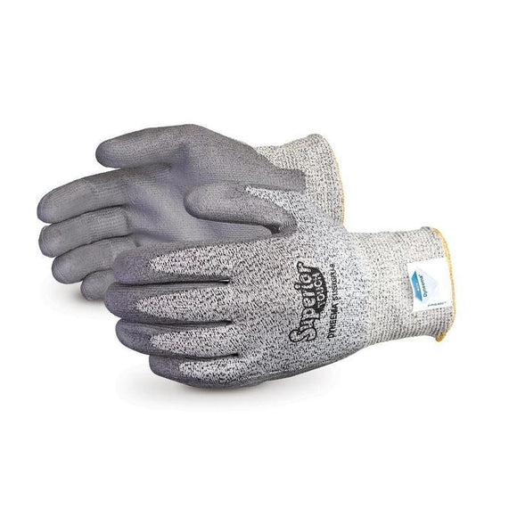 Superior Touch Grey 13-Gauge Economy Knit with Dyneema PU Palms