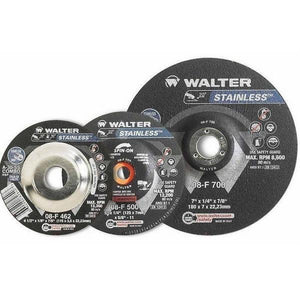 "Walter 7"" x 1/4"" A30SS Grinding Wheel (08F700)"