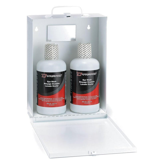 Complete Metal Eye Wash Stations with Isotonic Solutions