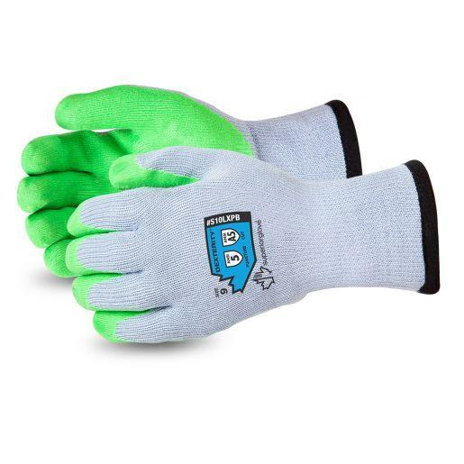 Clearance Dexterity 10-Gauge Cotton/Poly Knit Glove with Hi-Viz Latex Palm Lined with Punkban