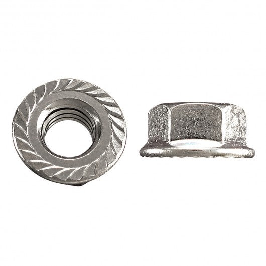 Hard Serrated Flange Nuts Zinc Plated
