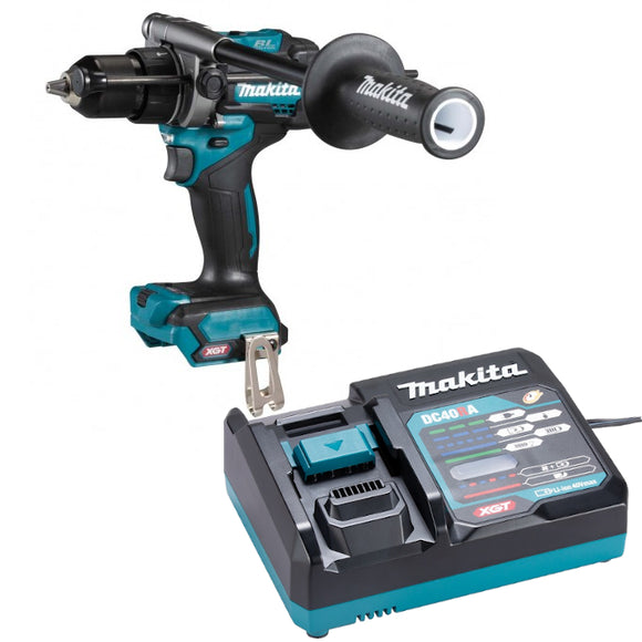 <b>Exclusive!</b> Makita HP001GZ XGT 40V Max Brushless Hammer Driver Drill Kit with battery & charger