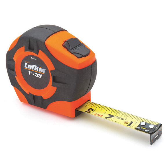 Lufkin PHV1433 Pro Series 1 x 33' Hi-Viz Orange Tape Measure
