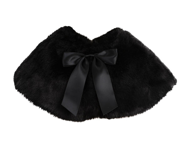 Faux Fur Junior Flower Girl Shrug Princess Capelet Dress Cover-up Beauty Pageants Formal Party