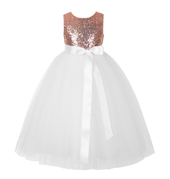 Sequins Heart Cutout Tulle Flower Girl Dress Junior Beauty Pageant Holiday Special Occasions 172seq