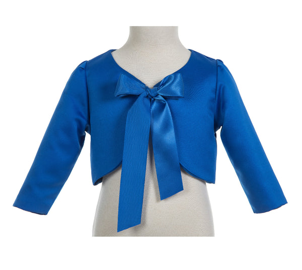 3/4 Sleeves Satin Flower Girl Bolero Girls Jacket Princess Cape Flower Girl Shrug Dress Cover Up