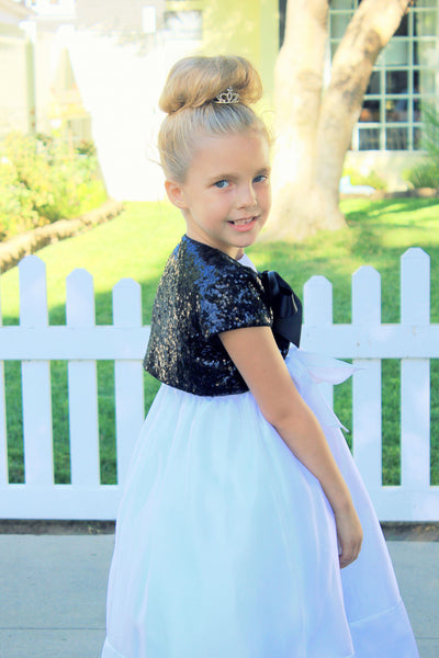 Sequins Mesh Capes Junior Flower Girl Bolero Jacket Special Beauty Pageants Princess Cape Cover Up