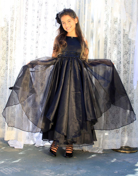 Sequin Ruffles Organza Flower Girl Dress Toddler Wedding Pageant Party Recital Special Event 012S(1)
