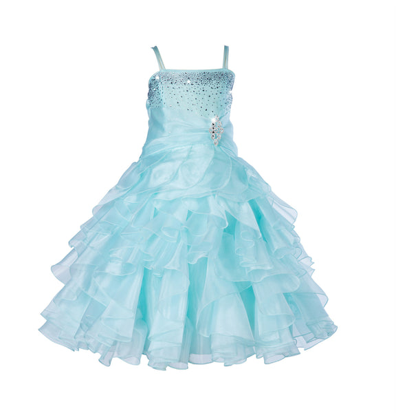 Elsa's Ice Blue Pleated Dress