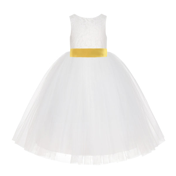 Tulle Rattail Edge Flower Girl Dress Wedding Pageant Easter Holiday Birthday Baptism Occasions 117NF