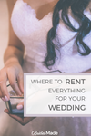 Where to rent everything for your wedding
