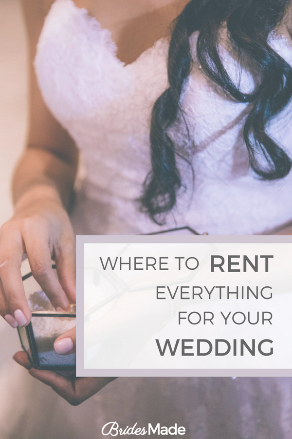 Where to Rent Everything You Need for Your Wedding