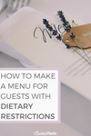 Wedding guest DIETARY RESTRICTIONS