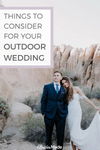 Things To Consider For Your Outdoor Wedding