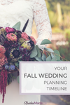 your fall wedding planning timeline