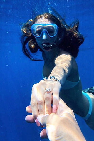 go underwater to announce your engagement
