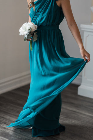 teal bridesmaid dress canada