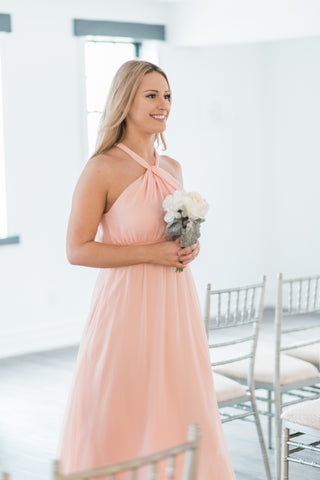 Pink bridesmaid dress canada