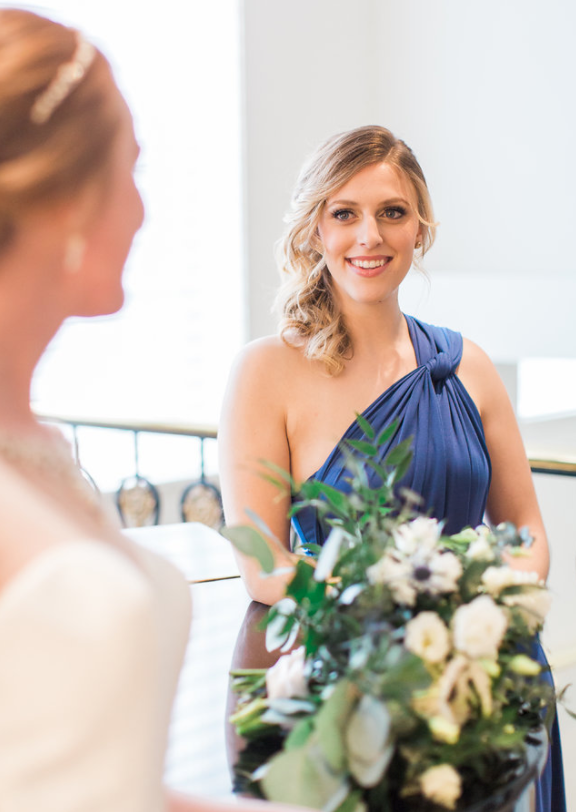 royal blue bridesmaid dress canada ontario rental styled shoot