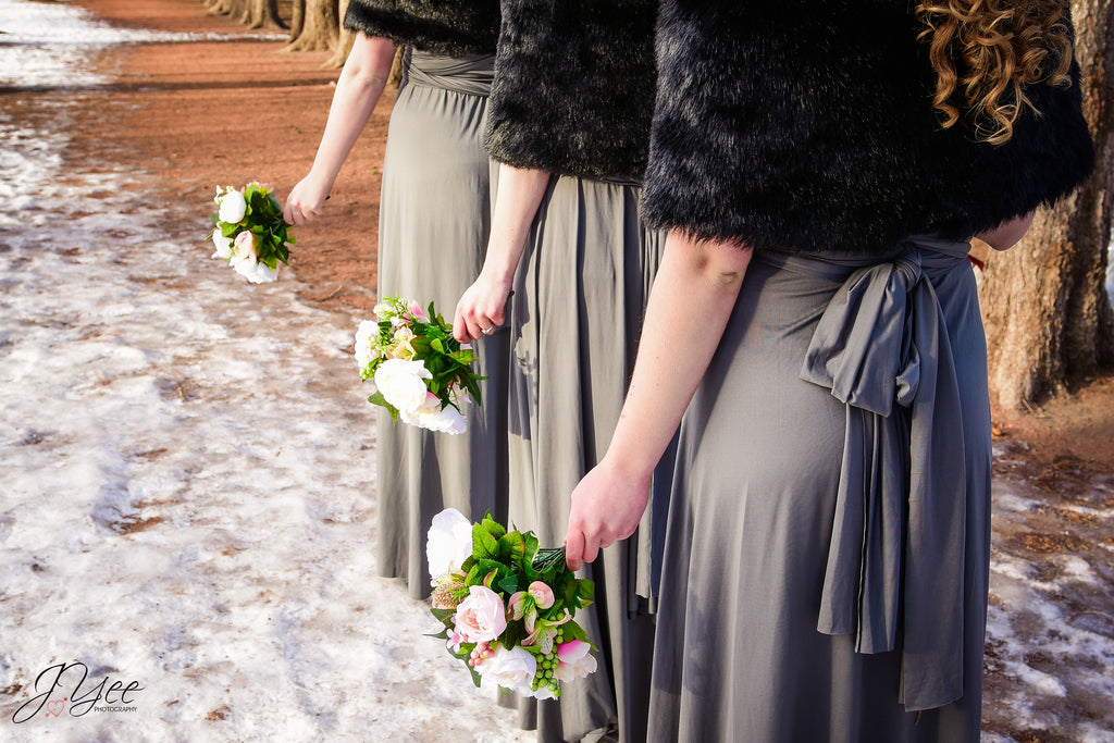 grey bridesmaid dress rental canada