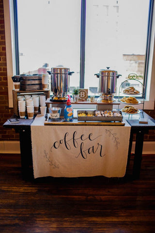 coffe bar wedding
