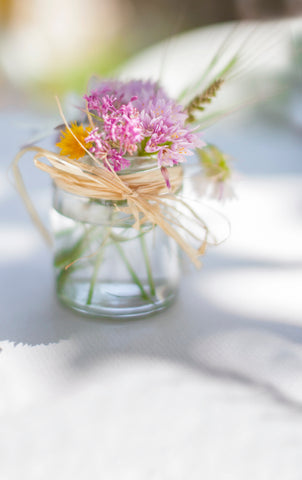 mason jar flower vases for a rustic wedding