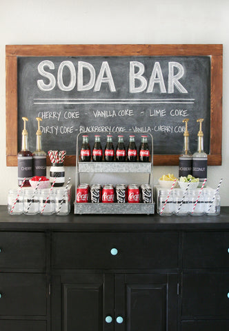 Soda bar wedding