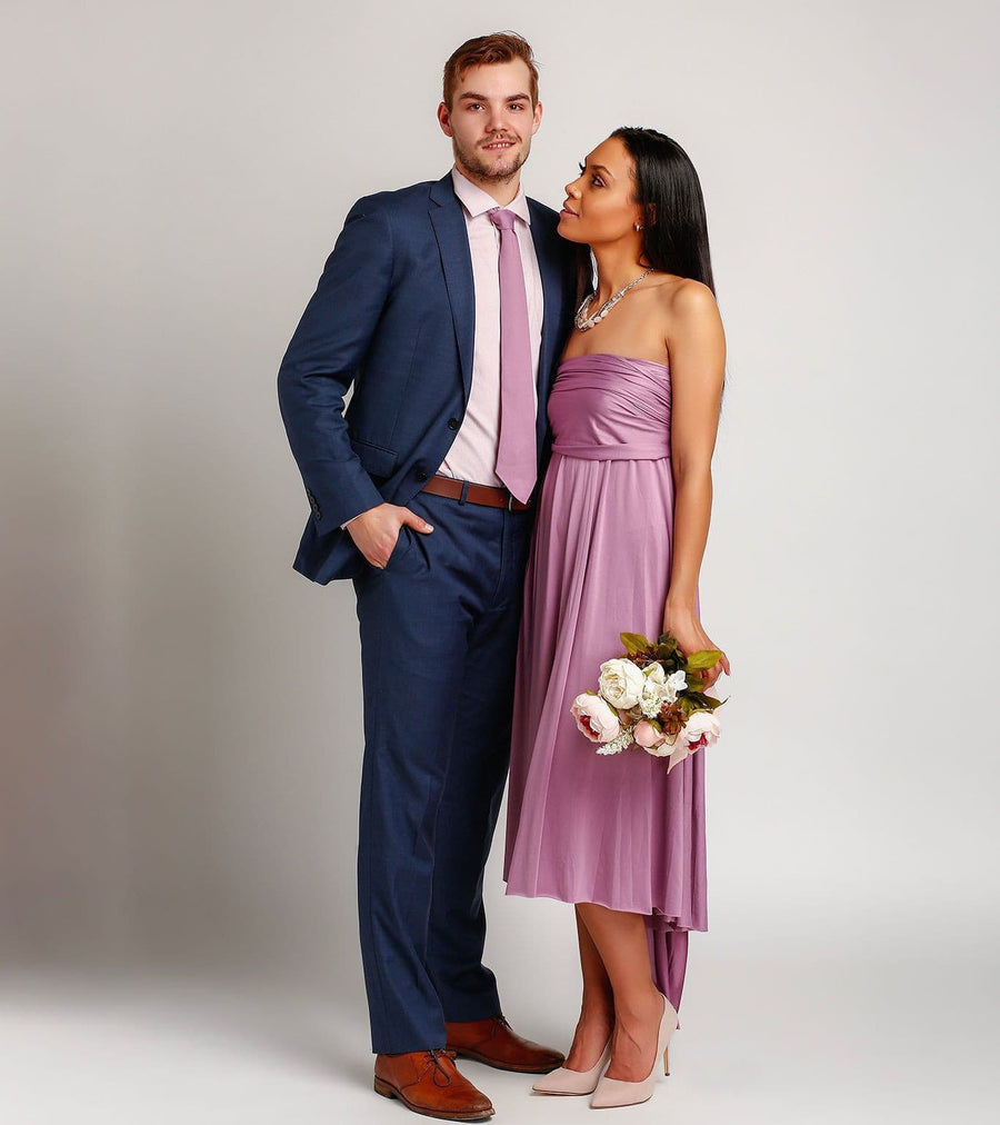 Bridesmaid Dresses - Groomsmen Ties to match Infinity Dresses - BridesMade