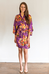 Bridesmaid Dresses - Purple Floral Bridal Robes - BridesMade