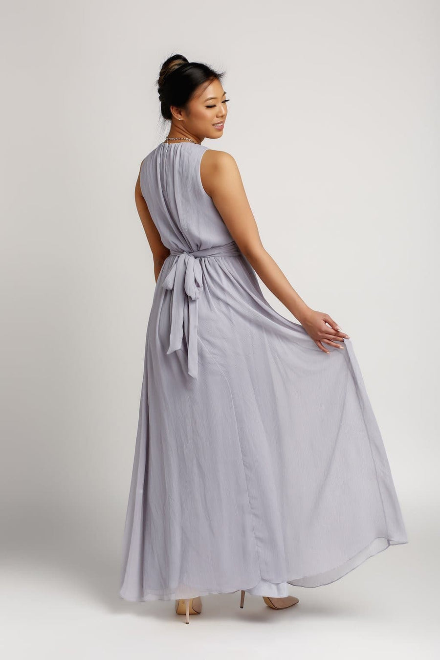 Bridesmaid Dresses - Jewel Neck Floor Length Chiffon Bridesmaid Dress - BridesMade