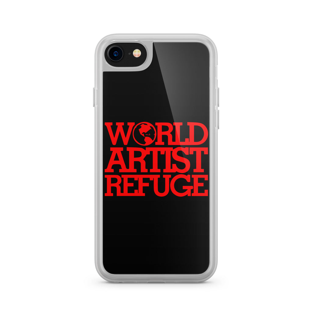 World Artist Refuge iPhone Case (Black/Red)