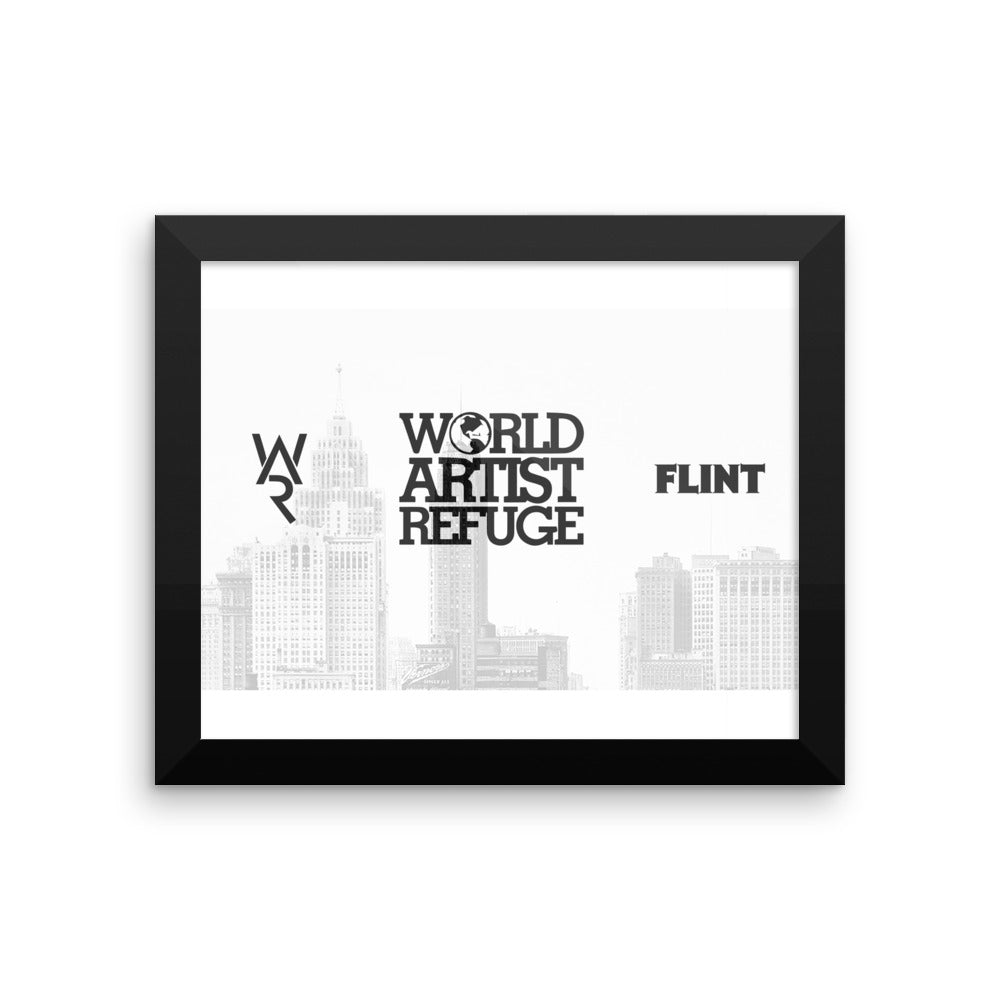 WAR Framed photo paper poster