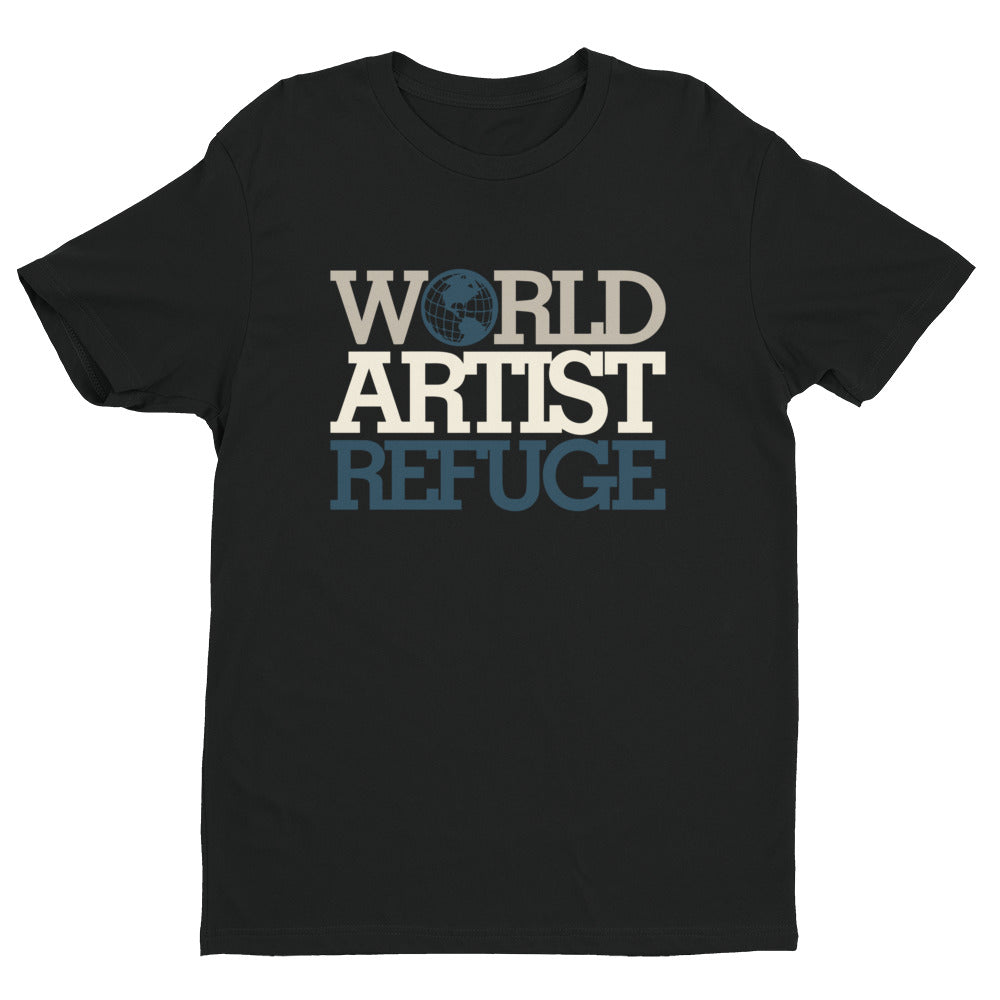 World Artist Refuge Short sleeve men's t-shirt (Blue)