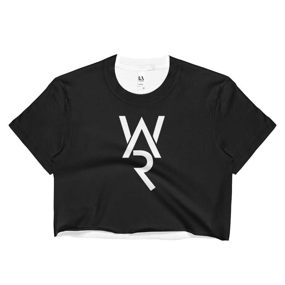 Black WAR Ladies Crop Top