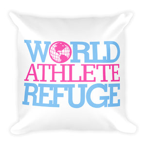 World Artist Refuge Square Pillow (pink)