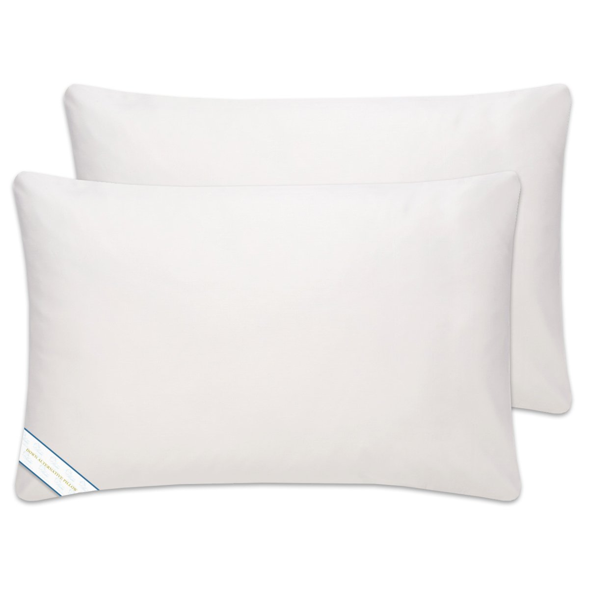 Down Alternative Hypoallergenic Bed Pillow, 2 Pack King