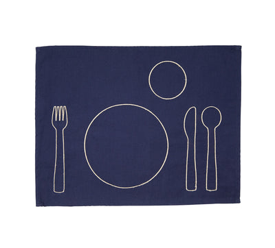 100% pre-shrunk cotton placemat with embroidery, front side