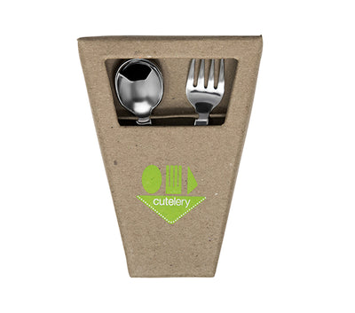 Cutelery Toddler Fork and Spoon Set - Box Front