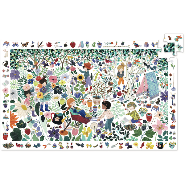 Djeco Puzzle Observation- 1000 Flowers 100pc