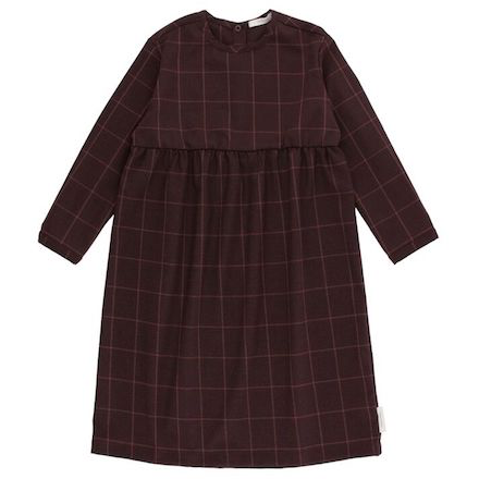 Tiny Cottons Grid Flannel LS Dress