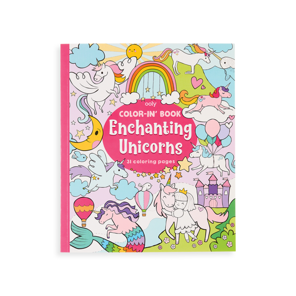 Color-in Book: Enchanting Unicorns