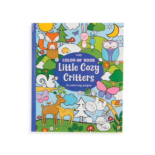 Color-in Book:  Little Cozy Critters