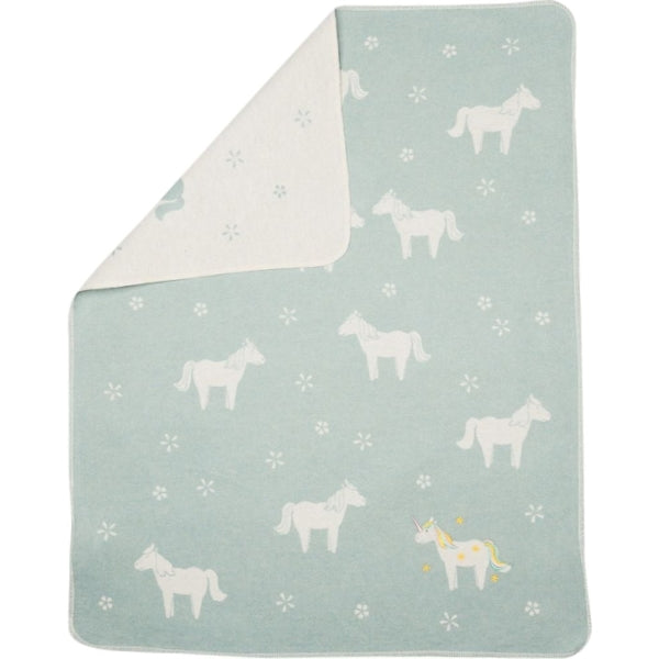Fussenegger Juwel Unicorns Embroidered Light Green 90x70cm