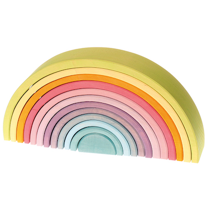 Grimms Rainbow Large, Pastels, 12 pcs