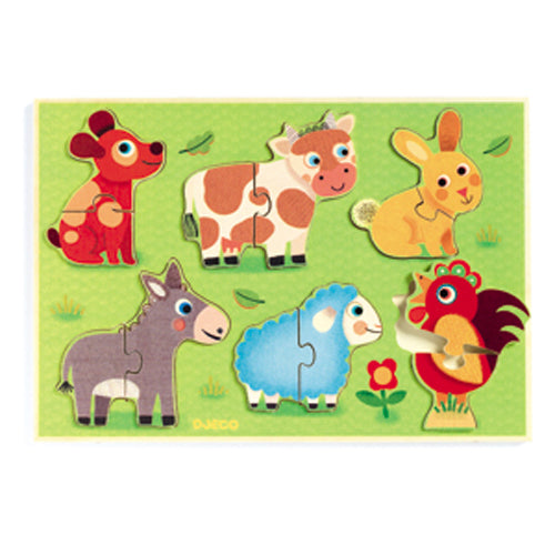Djeco Wooden Puzzle - Coucou-Cow